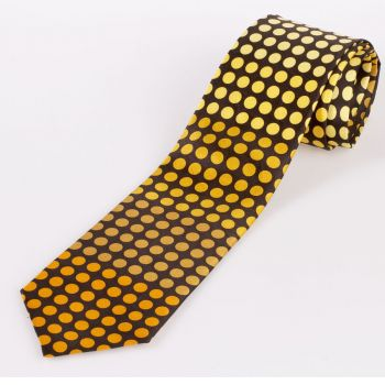 Chocolate and orange English  Silk Ties