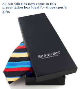 Silkworm silk ties gift box