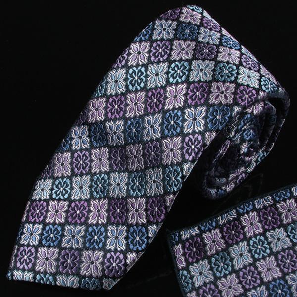 mens ties designer mftm  Woven silk tie and pocket square set