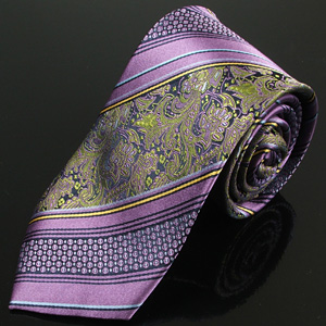 Lilac and Paisley silk tie