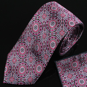 Woven silk tie and pocket square set